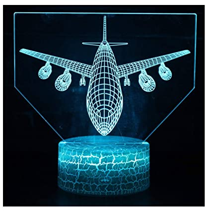 Cheap Price Aircraft 3d Lamp Multi Color Remote Control 3d Table Lamps For Living Room Touch Desktop Creative 3d Led Night Desk Lamp Led Table Lamps Led Lamps
