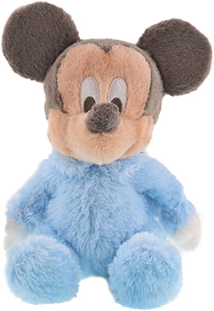 DISNEY Store DISNEY Baby PLUSH RATTLE MICKEY MOUSE On Card NEW