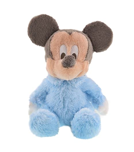 35fa7d18e810 Amazon.com  Disney Soft 10 Plush Baby Mickey Mouse with Rattle ...