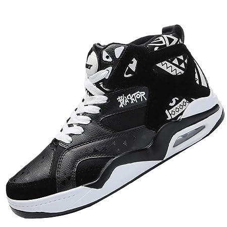 SHENMINJ Transpirable Baloncesto Zapatos Hombres Retro Baloncesto ...