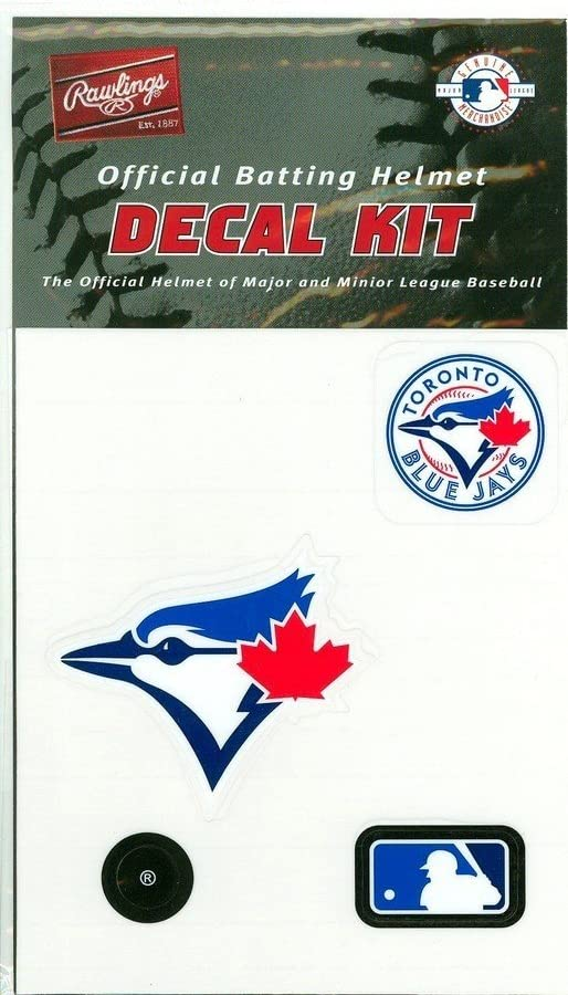 Rawlings Baseball/Softball Batting Helmet MLB Decal Kit (Includes Official Team Logos Stickers