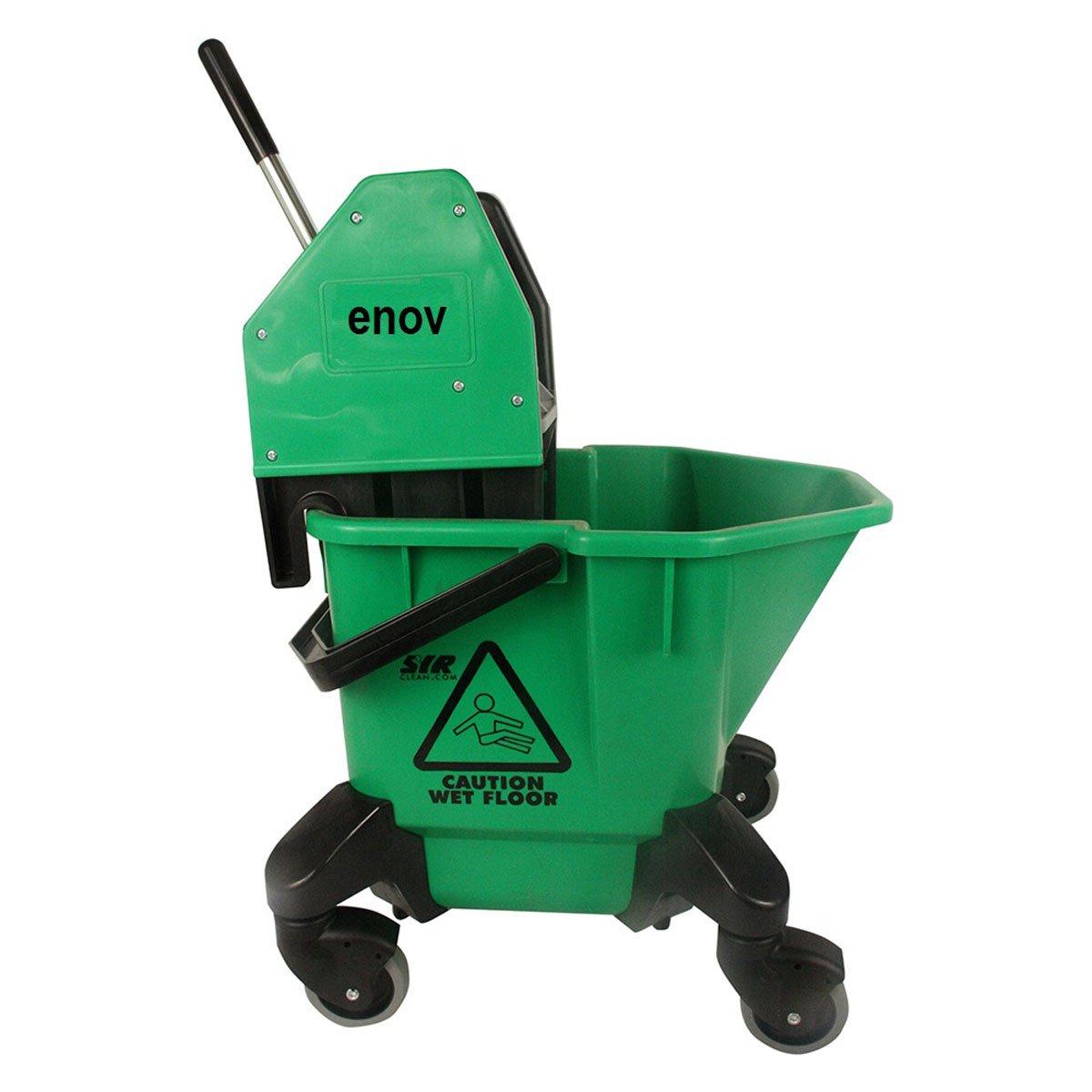 Green Enov HBR020-GR Kentucky Bucket and Wringer 20 L Capacity