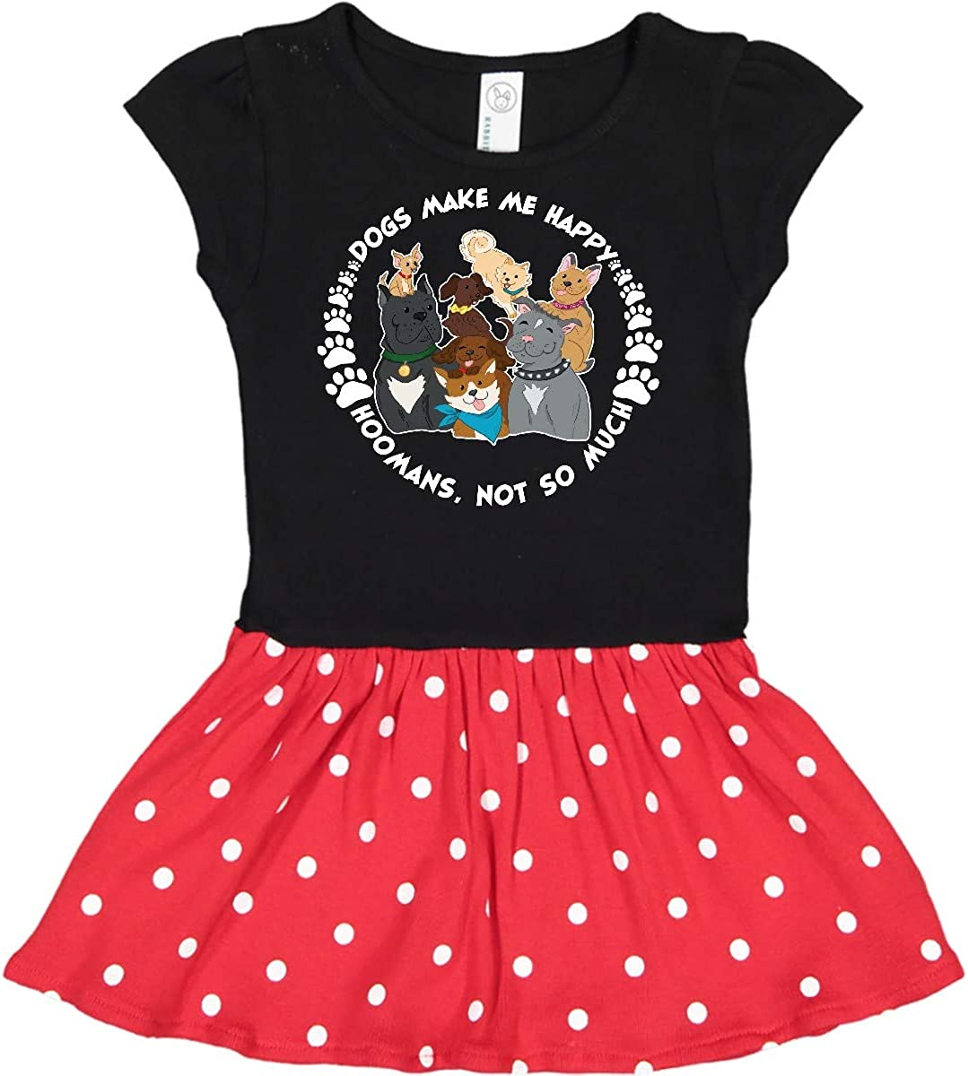 inktastic Dogs Make Me Happy Hoomans Not So Much-Cute Dog Infant Tutu Bodysuit