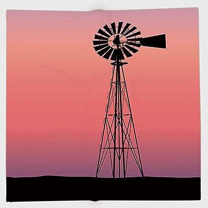 amazon com cotton microfiber hand towel windmill decor windmill