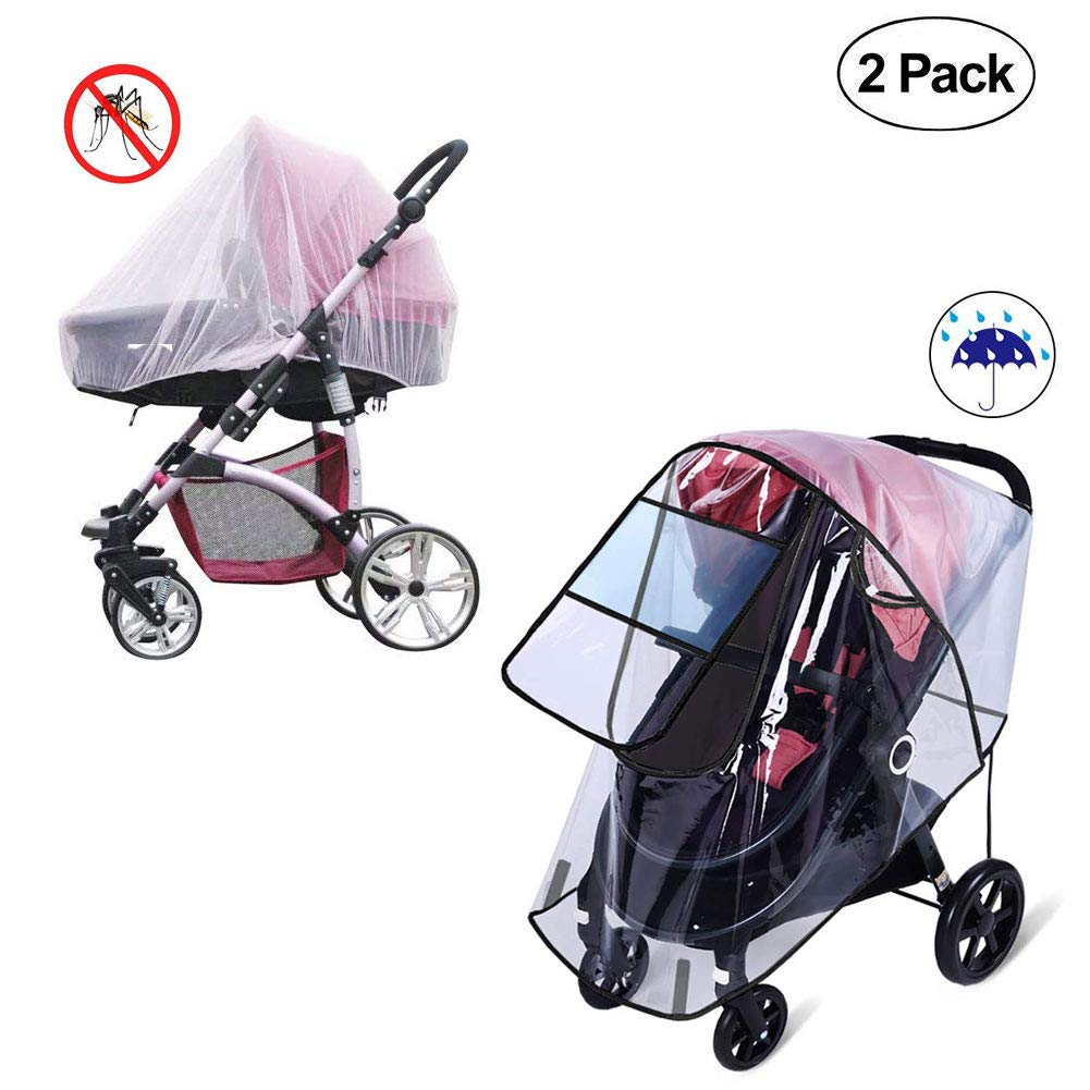 Universal Pram Rain Cover Waterproof Pushchair Baby Stroller Buggy Wind Shield