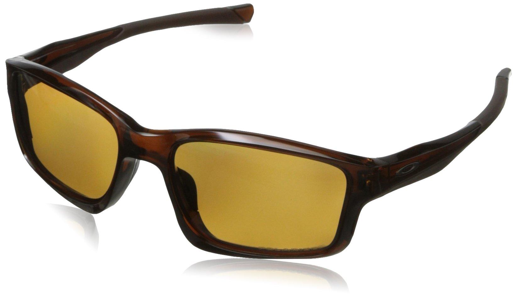 Oakley Mens Chailink OO9247-08 Polarized Ractangular Eyeglasses, Polished Rootbeer, 57 mm