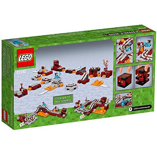 61zK1B8ju1L - LEGO Minecraft The Nether Railway 21130