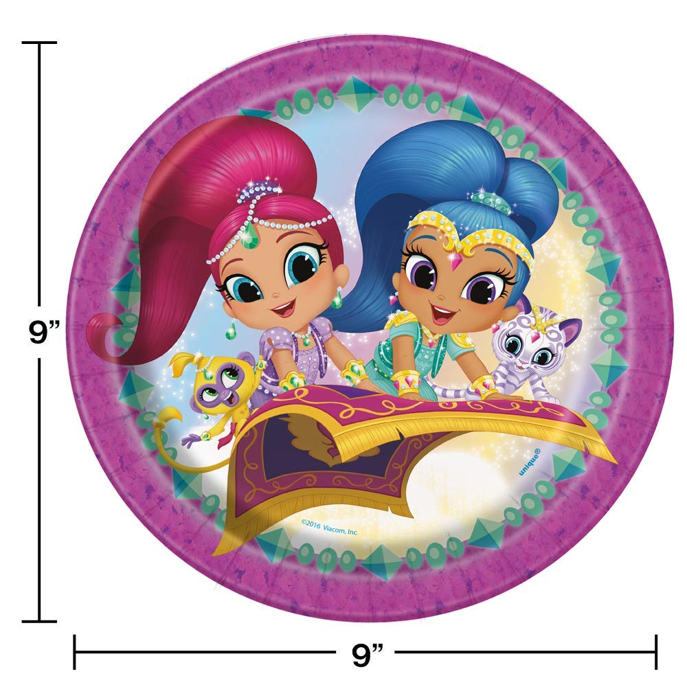 Amazon.com: Shimmer y Shine Tema Platos y Servilletas Sirve ...