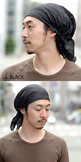 Pirate Men's Loose Cotton Summer Bandana Cap Summer Headwear Available in Black, Brown, and Khaki by Casualbox
