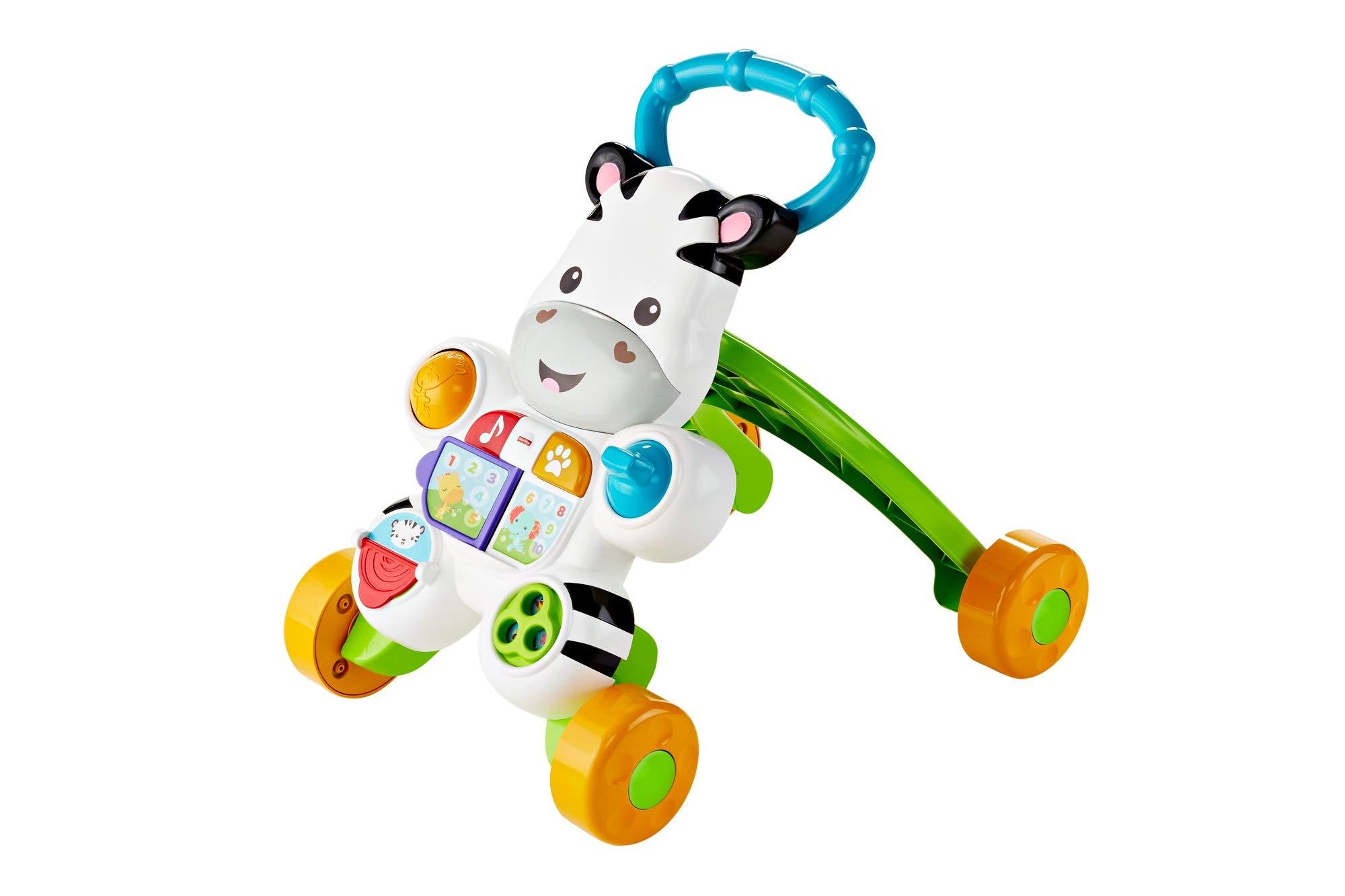 Fisher-Price Mon Trotteur Zèbre Parlant pour apprendre à marcher avec musique et activités d'éveil, pour bébé de 6 mois et plus, version française, DLD96 product image