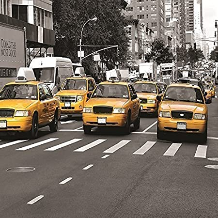 GIANT PHOTO WALLPAPER NEW YORK CITY YELLOW TAXI CABS NY WALL MURAL