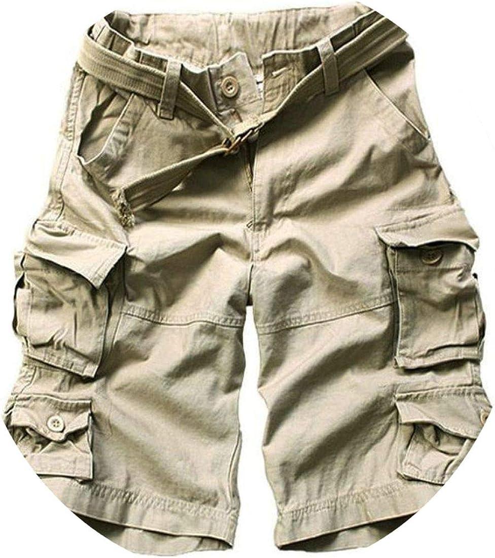 New Mens Cargo Shorts Multi 5 Pocket Black Cotton