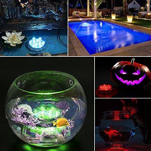 Topist-Submersible-LED-Light-10-LED-RGB-Waterproof-Battery-Powered-Lights-with-IR-Remote-Controller-for-Aquarium-Vase-Base-Pond-Swimming-Pool-Garden-Party-Weeding-Christmas-Halloween4-Pack