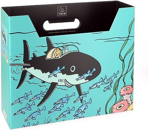 Moulinsart Caja archivadora DIN A4 Las Aventuras de Tintín Tiburón ...
