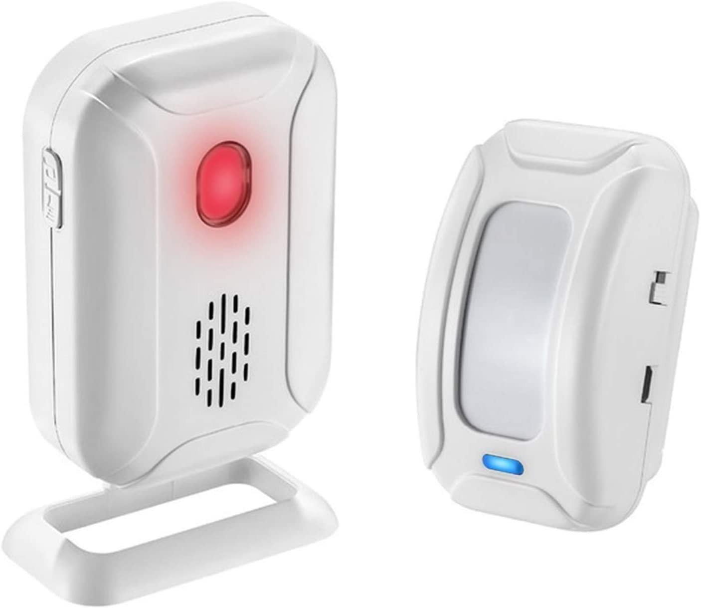 KCMYTONER Wireless Infrared Doorbell Welcome Chime Kit - 1 PIR Motion Door Alarm Sensor,1 Receiver (Range at 918ft 36 Chime Melodies) Store Home Security Alert …