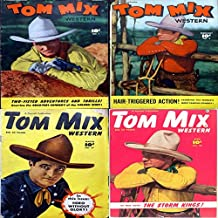 Tom Mix Western. Issues 1, 2, 27 and 28. Two fisted adventures and thrills. Starring the greatest cowboy of the golden west. Hair triggered action. Digital Sky Comic Compilations Wild West Western
