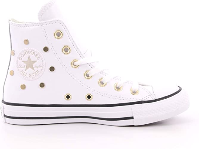 Converse Chuck Taylor All Star Leather Studs Hi Baskets Mode ...