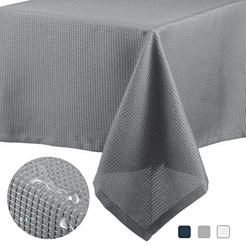 CAROMIO Rectangle Tablecloth - 60x102 Inches - Grey Rectangu