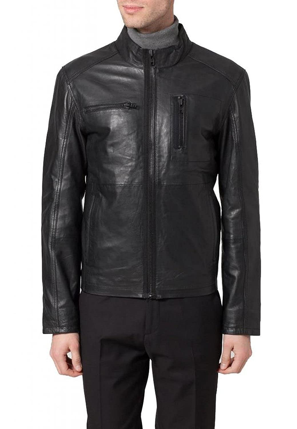 Laverapelle Men's Cow Skin Real Leather jacket Black - 1510264