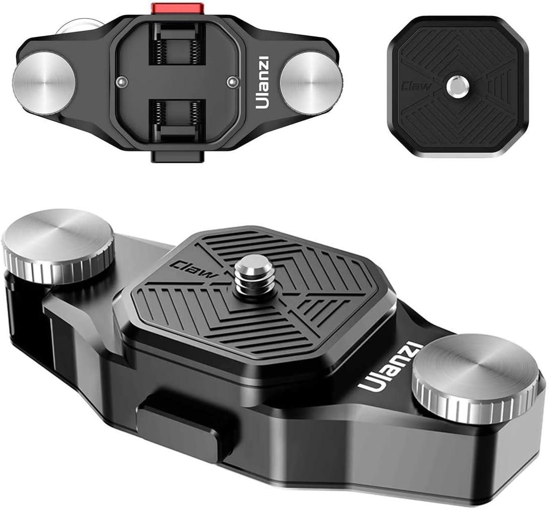 Ulanzi Claw Sistema de placa de liberaci/ón r/ápida en correa y cintur/ón para c/ámaras r/éflex digitales//c/ámara de acci/ón