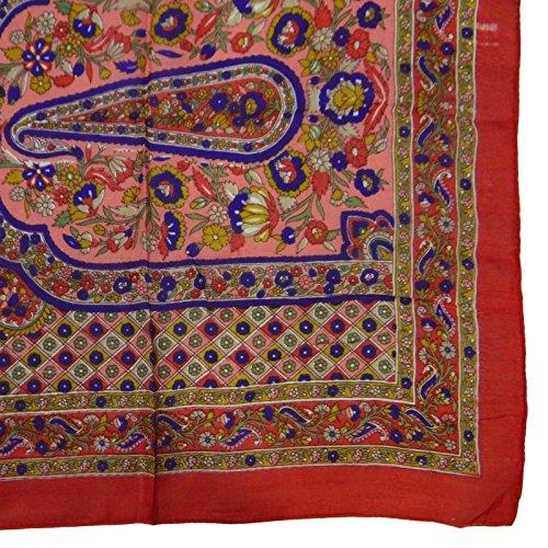 Bandana verano bufandas larga Seda pulgadas salm Sacrves de moda de Bufanda de 70 86xgW06n