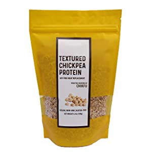 Meatless Crumbles, Made from Chickpeas, TCP/TVP, Soy Free, Non-GMO, Gluten Free, No Sodium, Vegan, Made in USA