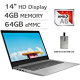 "2020 Lenovo IdeaPad 14"" HD Display Laptop Computer, AMD A6-9220e Processor, 4GB RAM, 64GB eMMC, 1 Year Office 365, AMD Radeon"