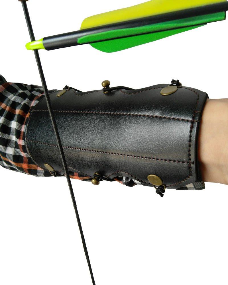 nachvorn牛革Shooting弓アーチェリーアームガード B0752C5F1B