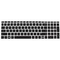 Saco Keyboard Silicon Protector for HP Pavilion Gaming 15-cx0144tx FHD Gaming Laptop - Transaparent