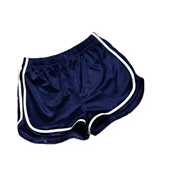 Women Summer Sports Shorts Daoroka Sexy High Waist Elastic Yoga Running  Casual Pocket Hot Pants ( 6f7797a79b15
