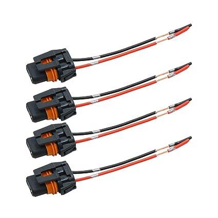 sourcing map 4Pcs Conector 9006 Enchufe Hembra 2 Cables Arnés para ...