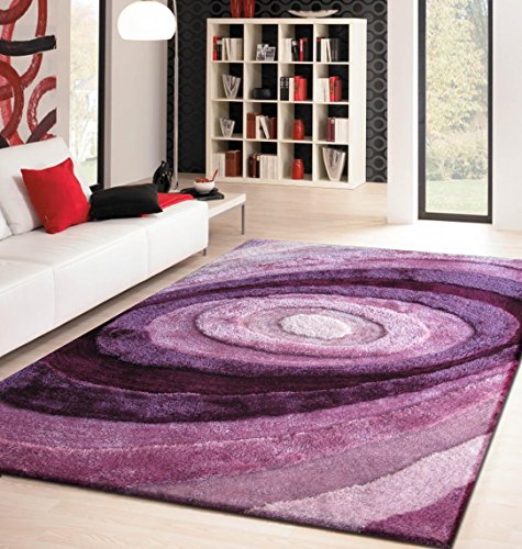 (Rug Factory Plus Living Shag Luxurious Area Rug, 5 by 8-Feet, Lavender)