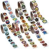 Super Sticker Assortment -1000 Stickers - 10 Rolls