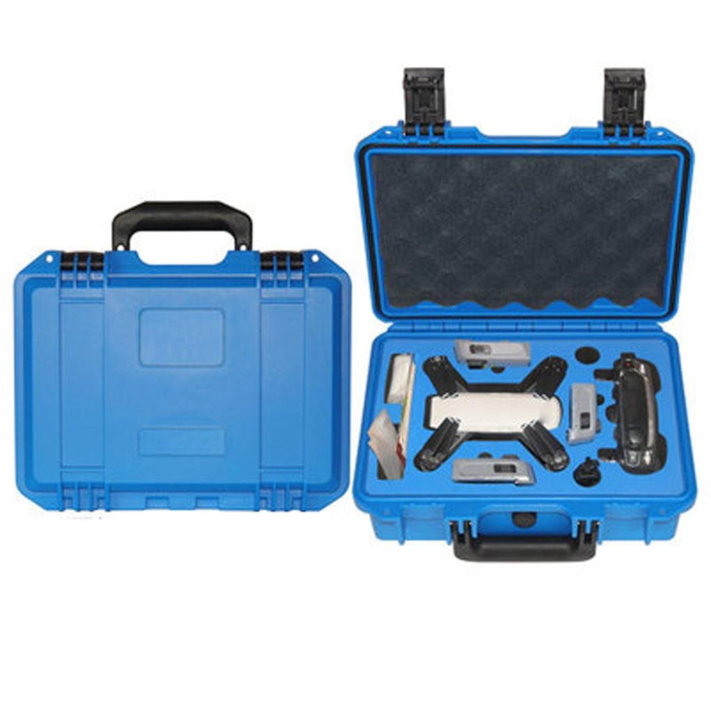 For DJI Spark Accessory,GBSELL Waterproof Hardshell Backpack Case Bag RC Spare Parts Suitcase Box (Blue)