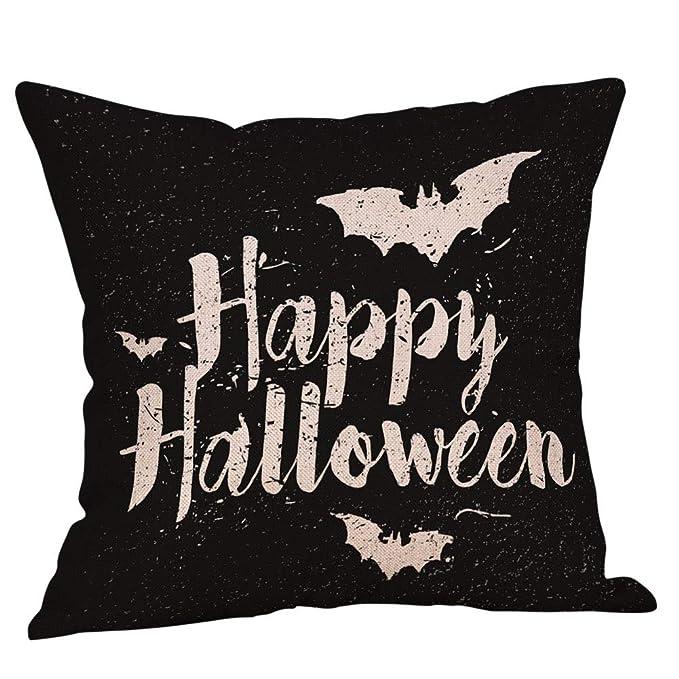 DrafTor Happy Halloween - Funda de Almohada de Lino y ...