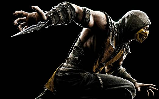 Amazon Com Prague Courtney Mortal Kombat X Scorpion Print 24x36