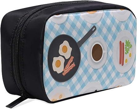 Bolso de baño para niño Apetitoso Desayuno delicioso Salchicha de huevo frito Bolsos de diseño para