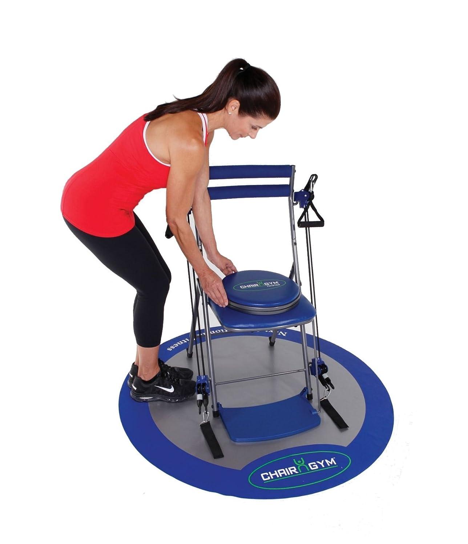 Amazon Chair Gym Total Body Workout Blue Leg Exercise