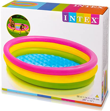 Intex 57412NP - Piscina hinchable 3 aros Sunset 114 x 25 cm: Ferry ...