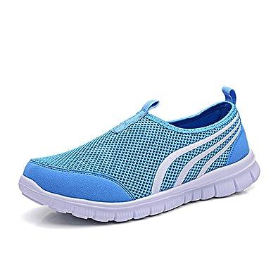 GreatParagon Unisex Damen Herren Sommer Slip-on-Sneaker Arbeitsschuhe Trekkingsandalen Atmungsaktives mesh-oberfläche Schuhe Wasserschuhe 24UultxsQS