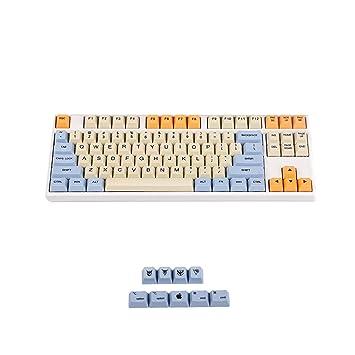 YMDK Azul Beige Naranja Tinte Sub108 Teclas Mac Gruesas PBT OEM Perfil Keycap estándar 104 TKL 60% MX interruptores Teclado 87 Plus Mac: Amazon.es: ...