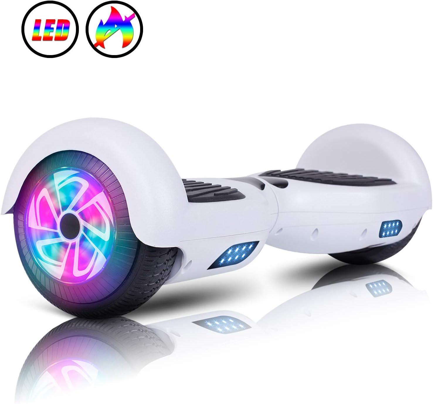 "JOLEGE Hoverboard, 6.5"" Two-Wheel Self Balancing Hoverboards - LED Light Wheel Scooter for Kids Adult"