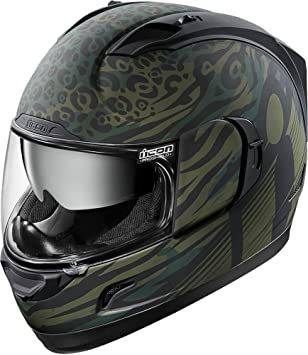 Icon Alliance Gt Operator - Casco de moto, color verde mate