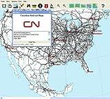 North American Railroad Map for Windows [CD-ROM]