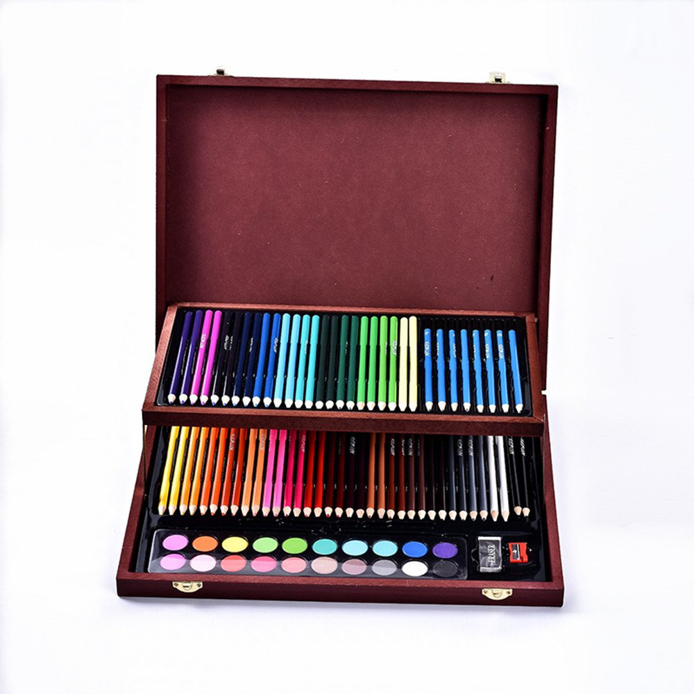 JIANGXIUQIN Artist Art Drawing Set, Exquisite Art 91 Children's Painting Art Supplies, Luxury Wooden Box Portable Device Gifts for Children and Children. by JIANGXIUQIN (Image #2)