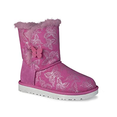 ugg australia girls' bailey button butterfly boots
