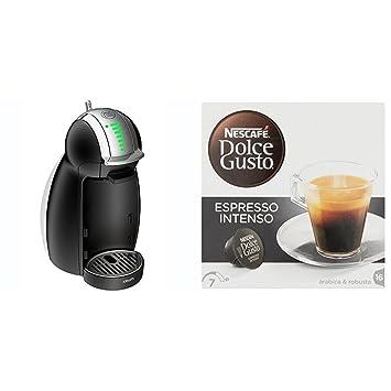 Pack Krups Dolce Gusto Genio 2 KP1608 - Cafetera de cápsulas, 15 bares de presión, color negro + 3 packs de café Dolce Gusto Espresso Intenso: Amazon.es: ...