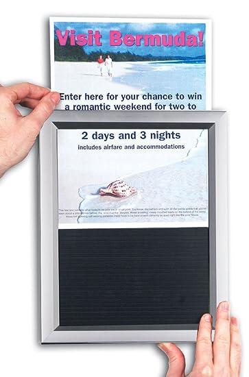 displays2go poster frames with slide in design silver aluminum set of 10