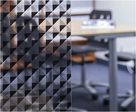 Geo Window Films LV-BT5078 Black Triangle 50 x 78 Decorative Window Film