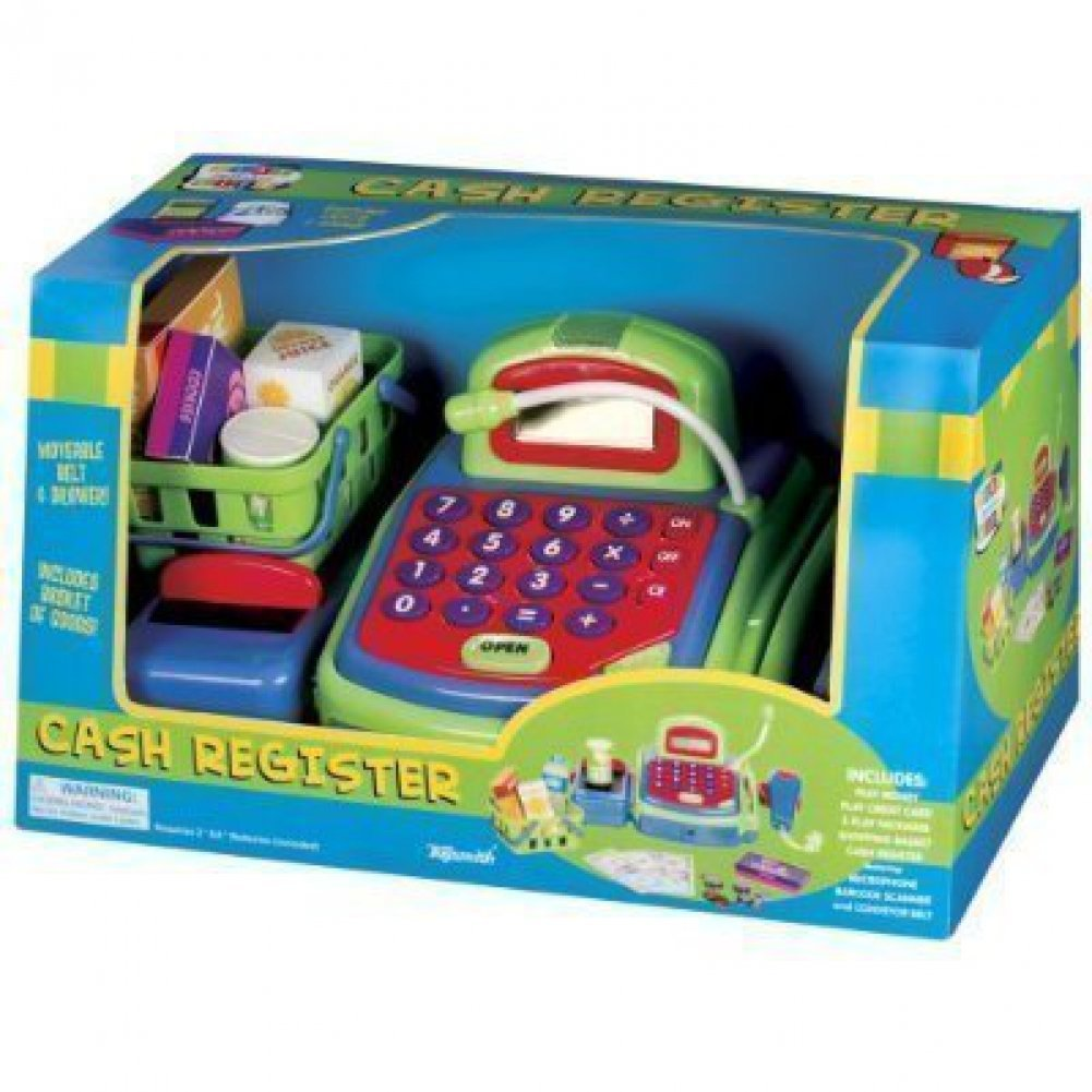 Deluxe Toy Cash Register : Pretend play electronic cash register toy realistic